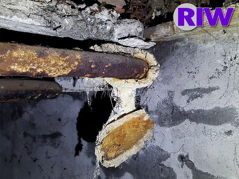 Asbest toepassingen - Niet-hechtgebonden - Buisisolatie